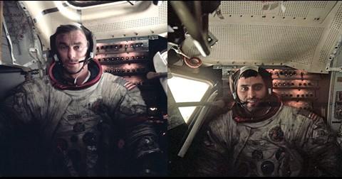 Cernan et Schmitt de retour dans le Module Lunaire après trois EVA d'une durée totale de 22h05min